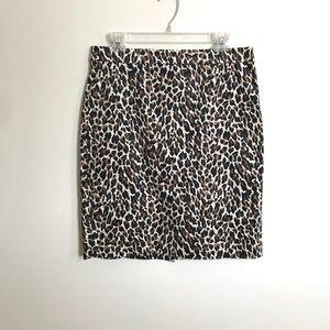 J. Crew | Leopard Print Pencil Skirt